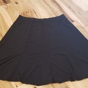 Black a-line skirt with elastic band